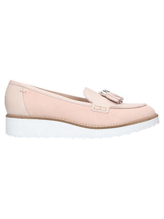 Buy Carvela Limb Wedge Heel Loafers, Nude Leather, 7 Online at johnlewis.com