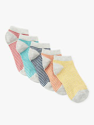 d700de9fc John Lewis   Partners Children s Stripe Trainer Liner Socks