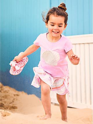 e2af32a3f8 Little Joule Girls  Shell Applique T-Shirt