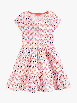 Little Joule Girls' Peplum Dress, Pink/White
