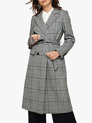 Phase Eight Carmel Check Trench Coat, Multi