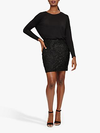 Phase Eight Diana Skirt Dress, Black