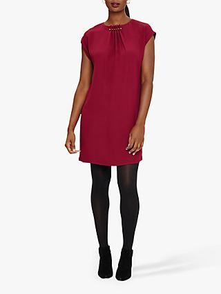 Phase Eight Maya Pleat Dress, Grape