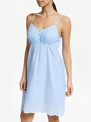 John Lewis & Partners Ellie Chambray Chemise, Blue