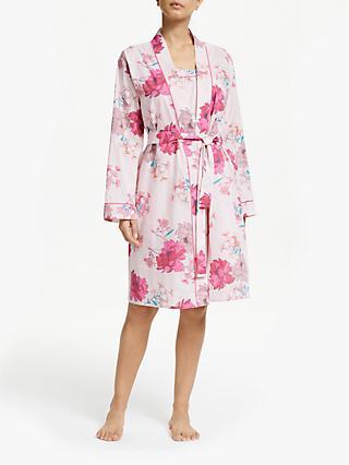b4d2245934e8c John Lewis   Partners Ava Floral Print Cotton Dressing Gown