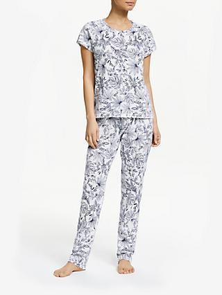 d9f2c3f1812c John Lewis   Partners Alice Floral Print Cotton Pyjama Set