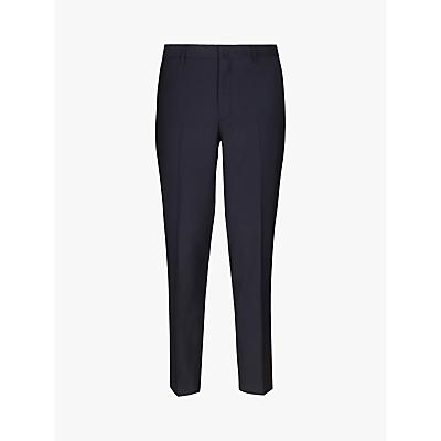 Hackett London Basketweave Regular Fit Suit Trousers, Navy