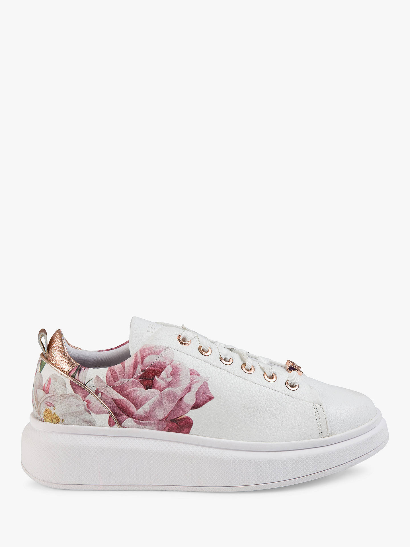 cc36bc998 Buy Ted Baker Ailbe 2 Iguazu Leather Trainers, White/Multi, 3 Online at ...
