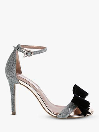 Ted Baker Bowdalo Stiletto Heel Sandals, Silver