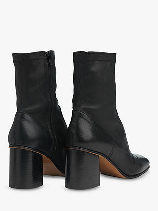 Buy Whistles Vittoria Sock Ankle Boots, Black, 6 Online at johnlewis.com