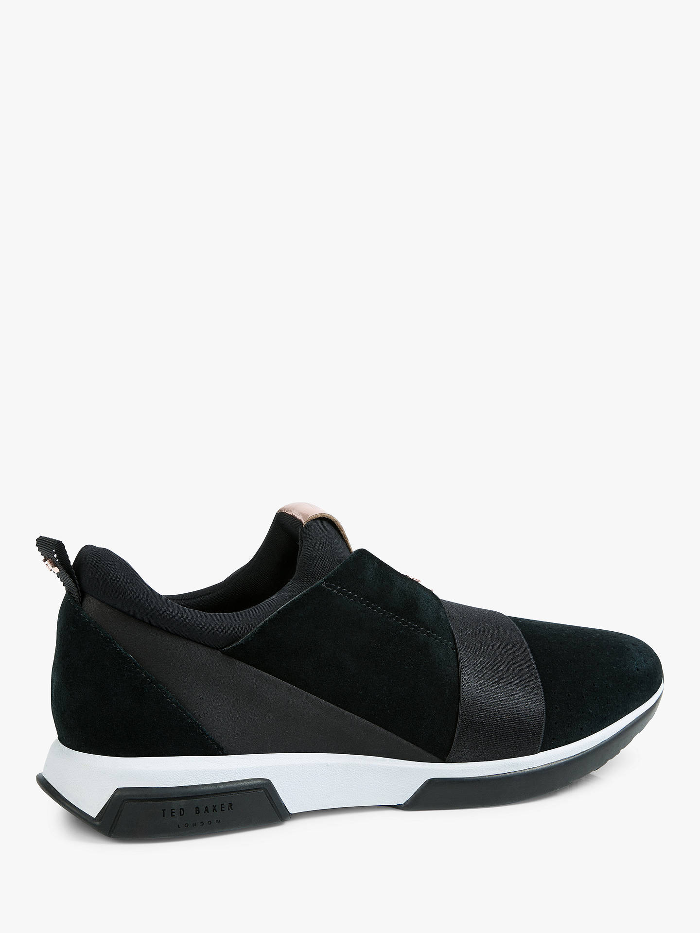 BuyTed Baker Cepas 2 Lace Up Trainers, Black Suede, 3 Online at johnlewis.com