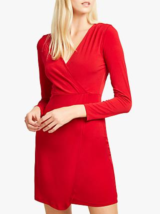French Connection Slinky Long Sleeve Wrap Dress