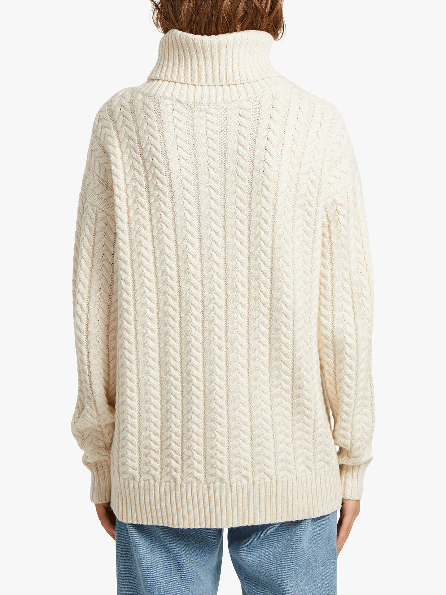b5ef0fdb6f213 ... Buy French Connection Rita Cable Knit Roll Neck Jumper, Classic Cream,  L Online at ...