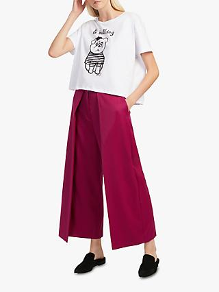 French Connection Ellesmer Culottes, Baked Cherry Red