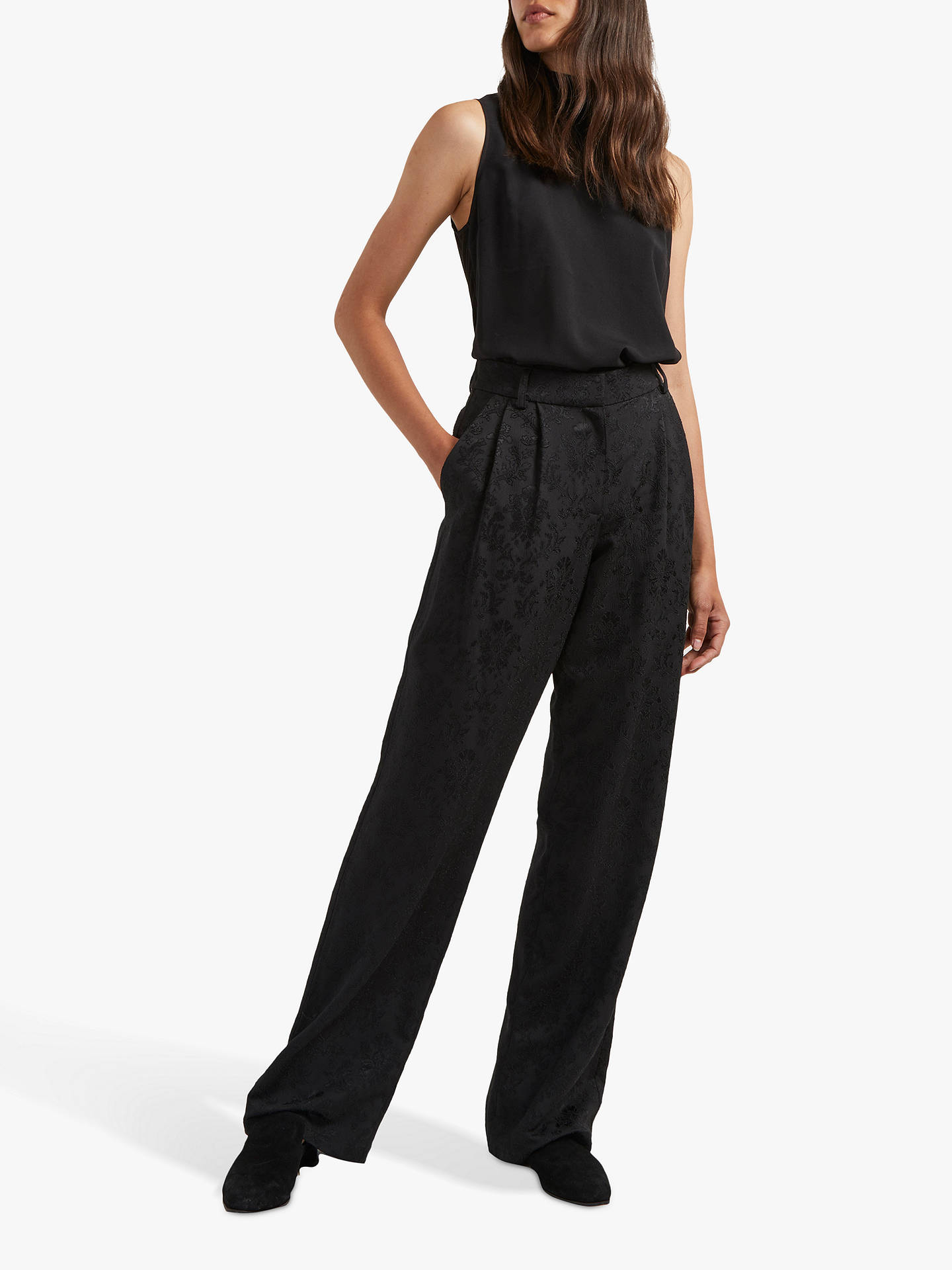 f032cc6b049 Buy French Connection Jane Jacquard Trousers, Black, 8 Online at  johnlewis.com ...