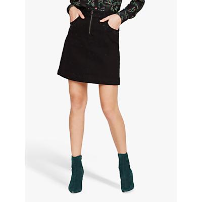 Damsel in a Dress Stud Denim Skirt, Black