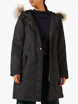 Jigsaw Windbreaker Parka, Black