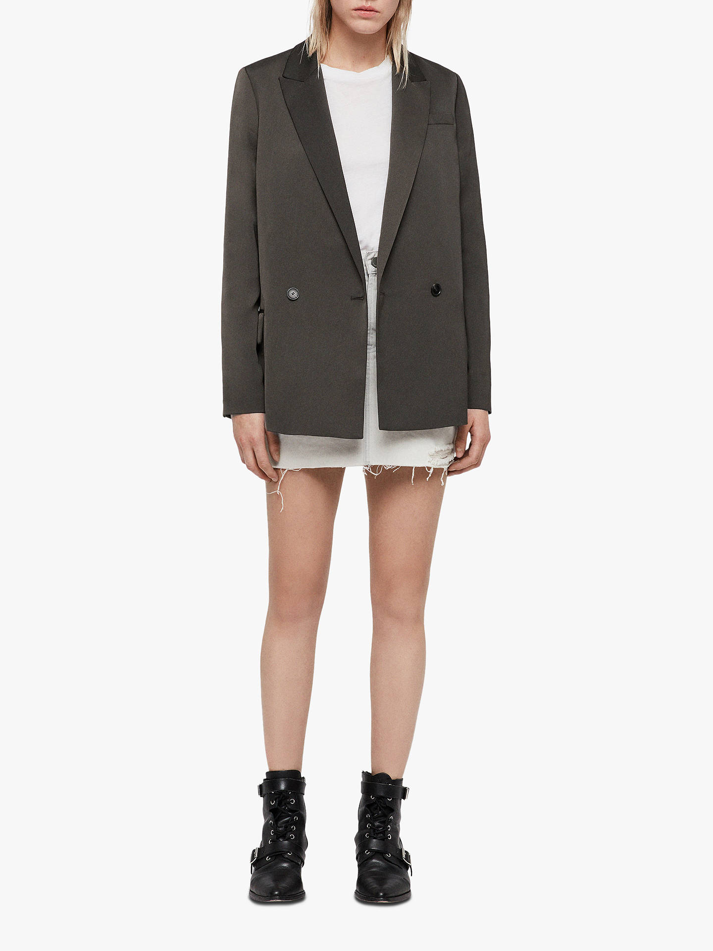 BuyAllSaints Jelsa Blazer, Pewter, 6 Online at johnlewis.com