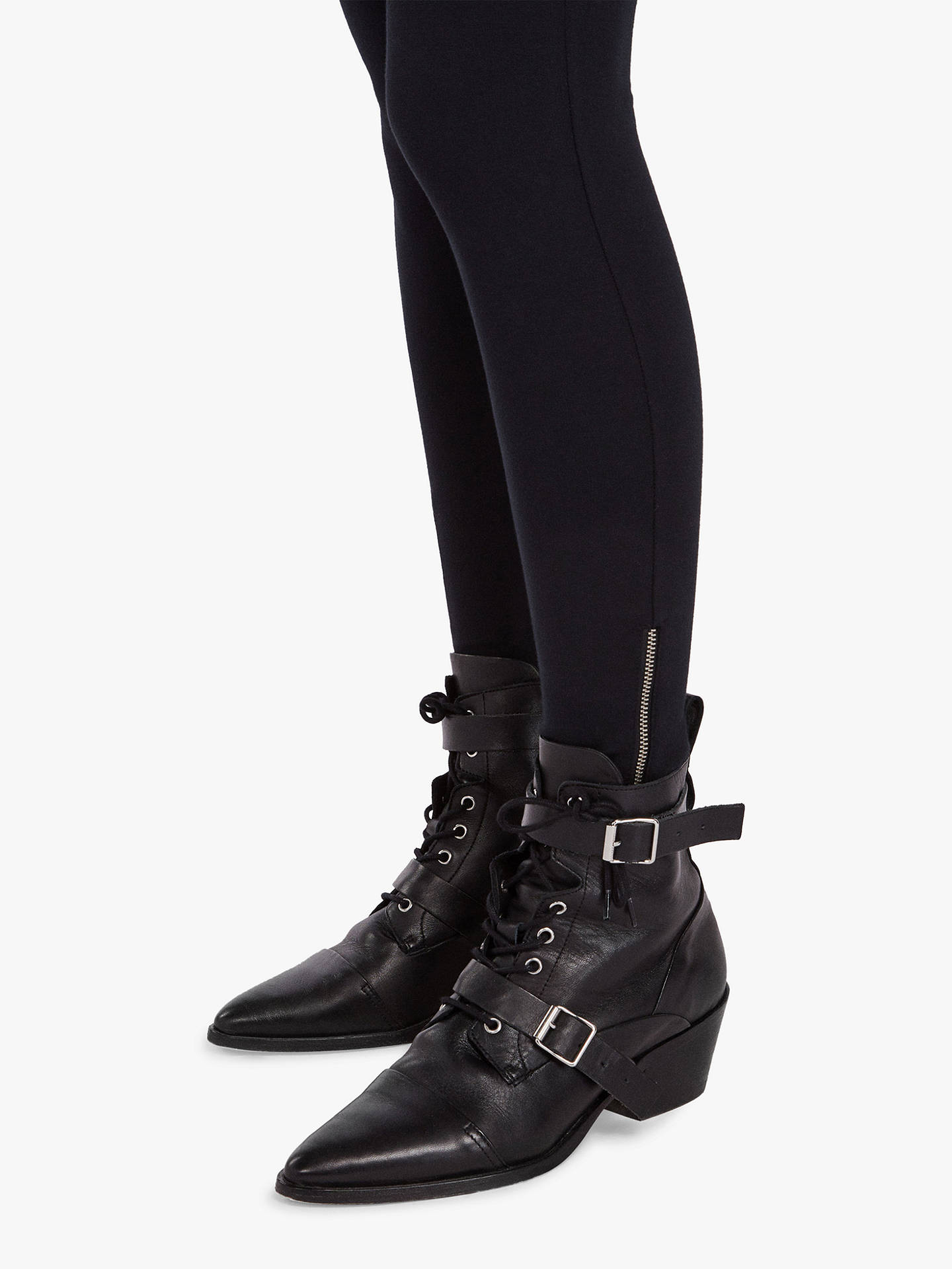 BuyAllSaints Terro Raffi Leggings, Jet Black, XS Online at johnlewis.com