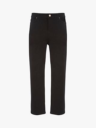 Mint Velvet Meribel Cut Off Jeans, Black