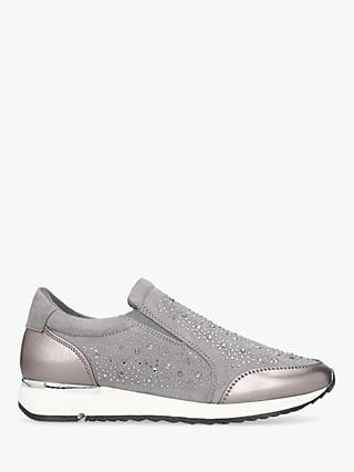 Carvela Jazz Embellished Slip On Trainers, Grey