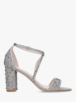 b4b6a11807ab25 Carvela Loyalty Suedette Stud Embellished Block Heeled Sandals