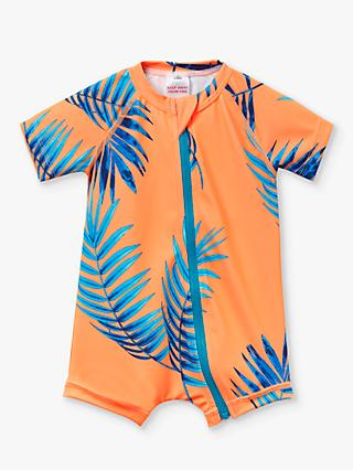 Bonds Baby Electric Palm All in One Swimsuit, Orange/Blue