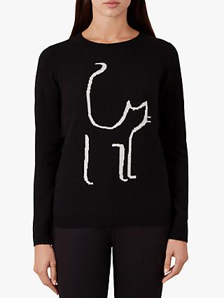 Hobbs Sophie Sweater, Black/Ivory