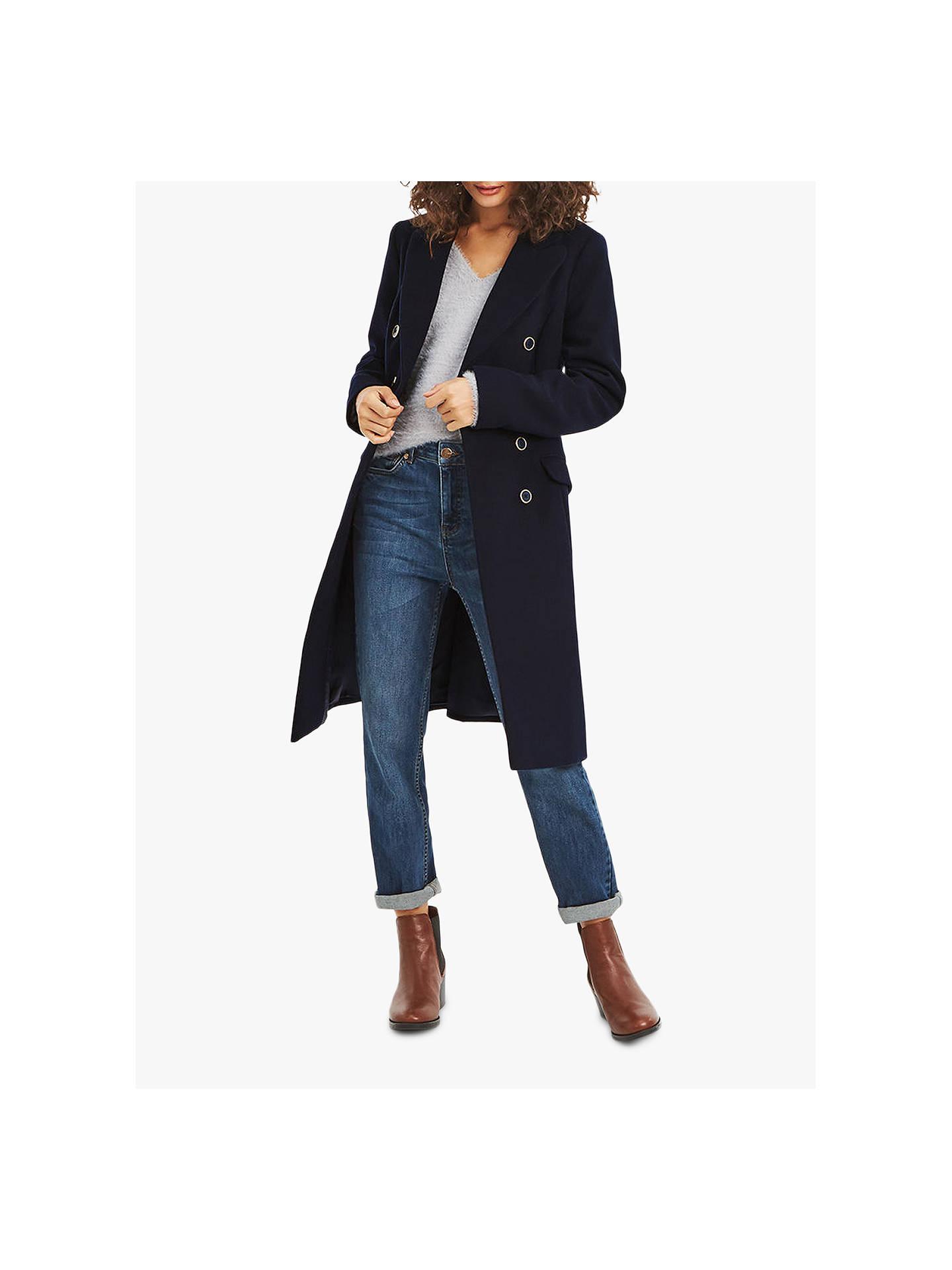 9e47ee7ce558 Buy Oasis Elm Coat, Navy, S Online at johnlewis.com ...