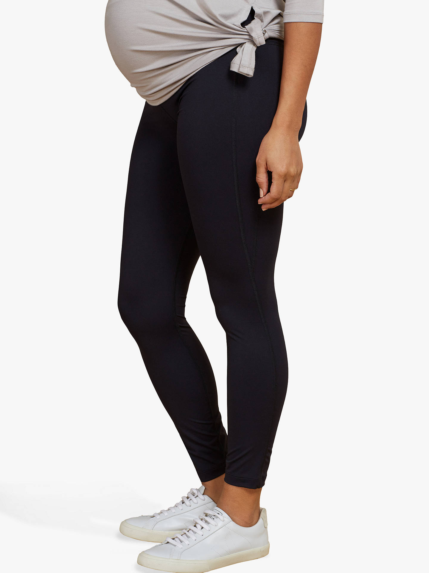 Buy Isabella Oliver Active Maternity Leggings, Black, 8 Online at johnlewis.com