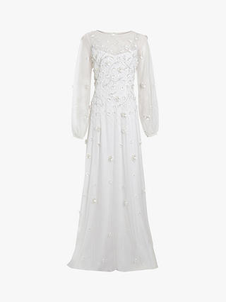 Buy Raishma 3D Floral Bridal Gown, White, 12 Online at johnlewis.com