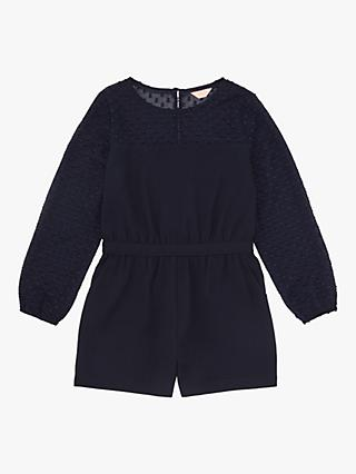 Jigsaw Girls' Fil Coupe Playsuit, Navy