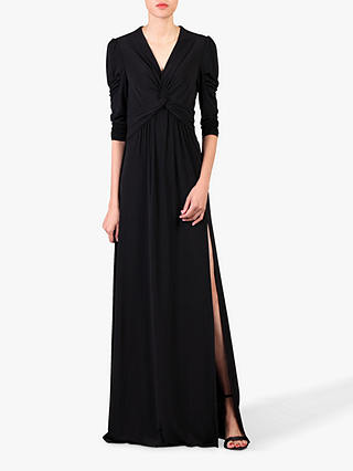 Buy Jolie Moi Side Slit Maxi Dress, Black, 14 Online at johnlewis.com