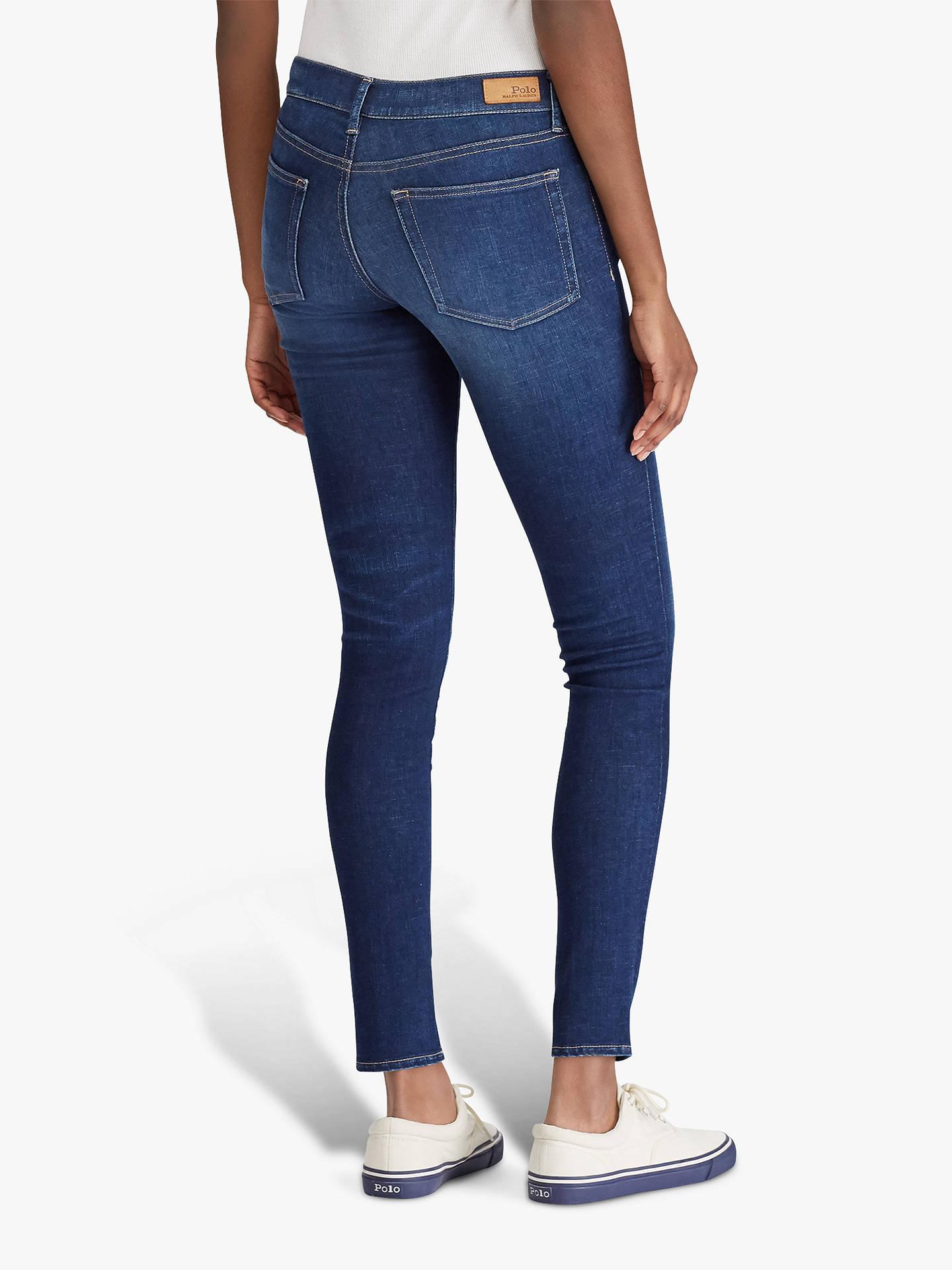 7b0a55acf4 Polo Ralph Lauren Tompkins Skinny Jeans, Dawn Wash at John Lewis ...