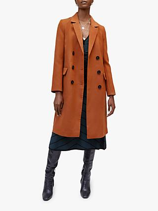 Warehouse Long Double Breasted Coat