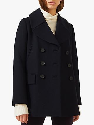 Jigsaw Modern Pea Coat, Navy