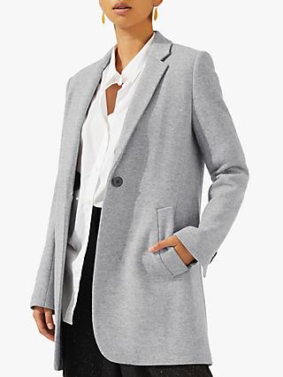 Jigsaw Welt Pocket Coat, Grey