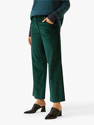 Jigsaw Hoxton Cord Trousers, Dark Ivy