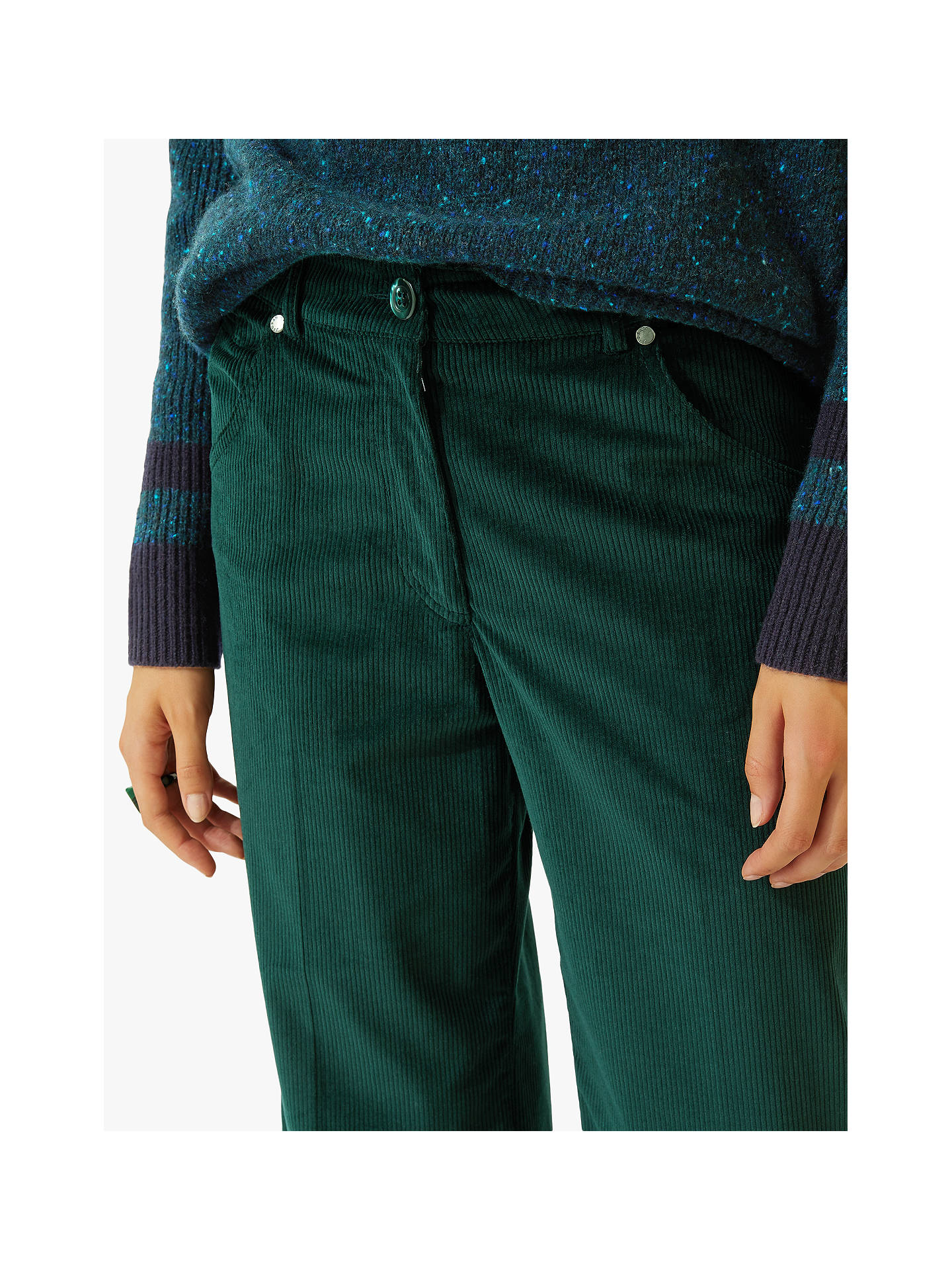 BuyJigsaw Hoxton Cord Trousers, Dark Ivy, 6 Online at johnlewis.com