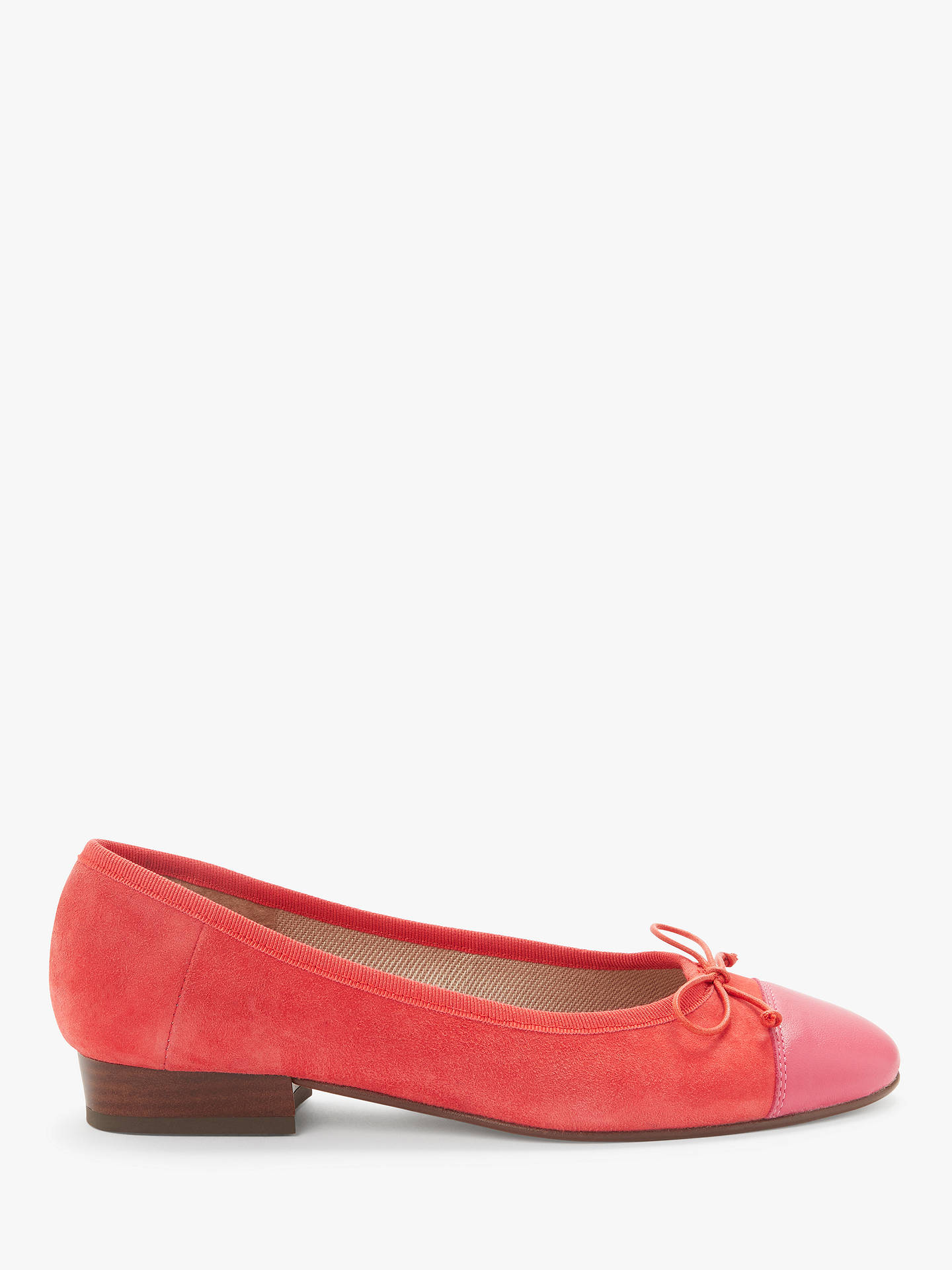 best service e0a96 780ed John Lewis & Partners Halle Ballerina Pumps, Red Suede