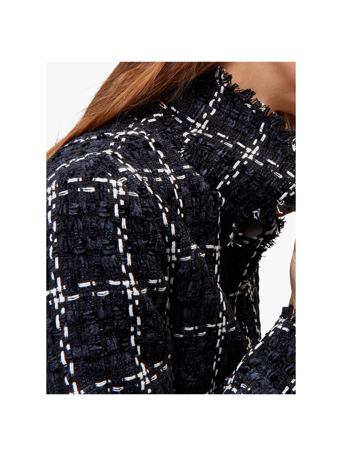 Warehouse Womenss Chenille Tweed Jacket