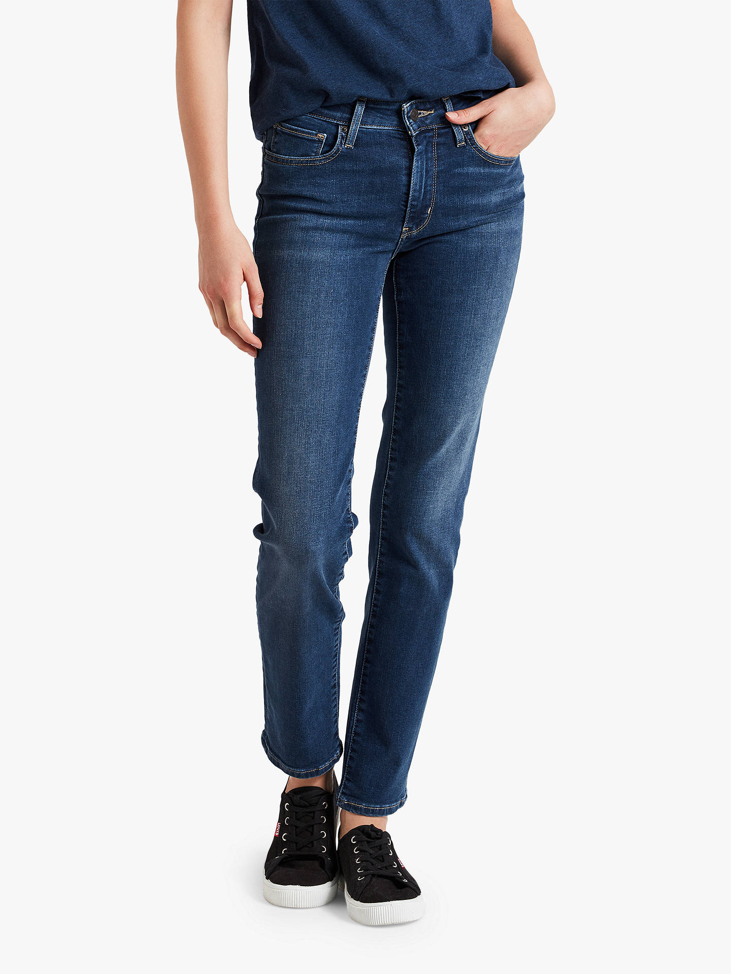 a940e861 Levi's 712 Mid Rise Slim Jeans, Read Between The Lines at John Lewis ...