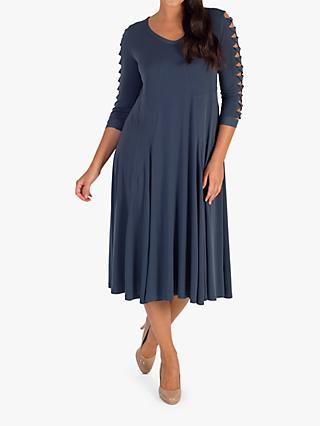 2344b489fcc Chesca Slate Lattice Dress