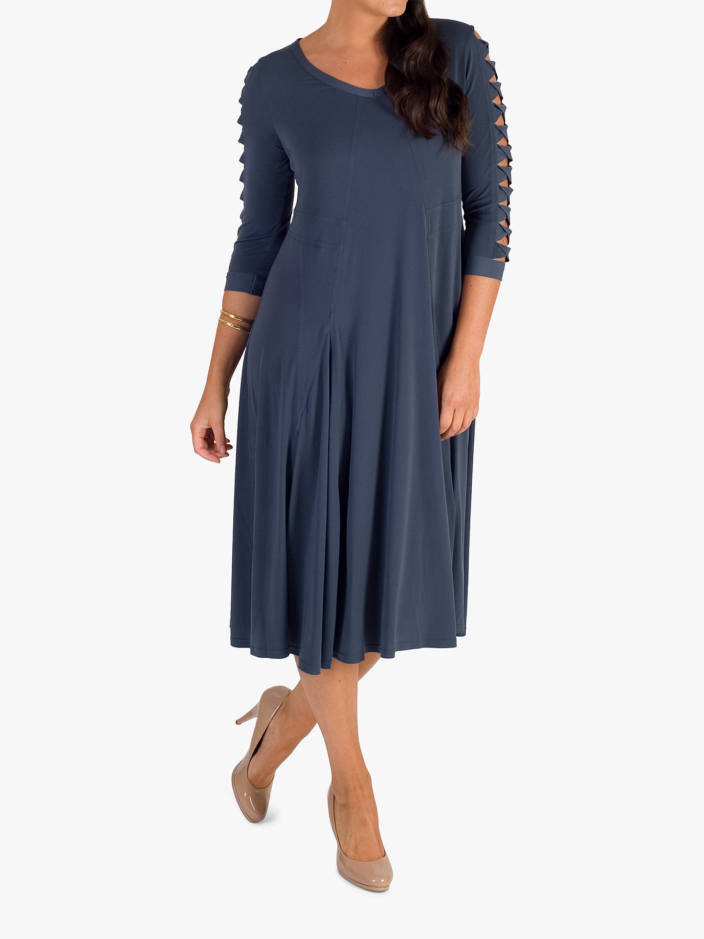 BuyChesca Slate Lattice Dress, Slate Grey, 12-14 Online at johnlewis.com