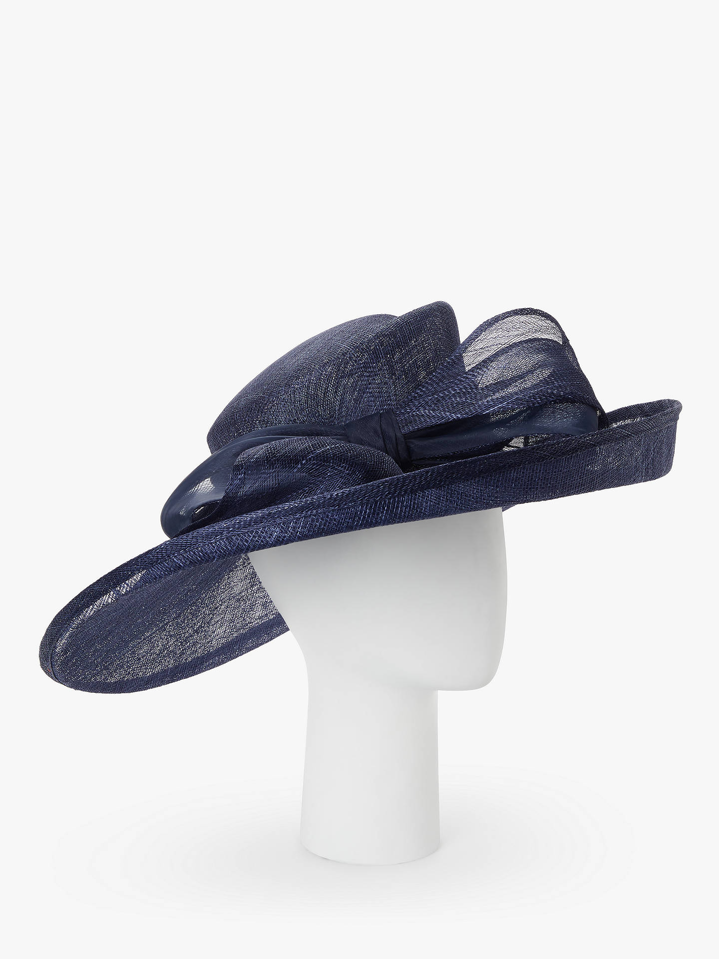 e390a901f Peter Bettley Sandra Bow Detail Side Up Disc Occasion Hat, Navy