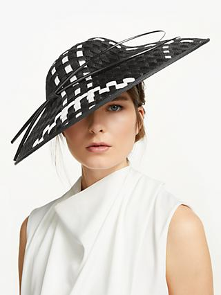 01b1f38f Peter Bettley Paris Check Detail Disc Occasion Hat