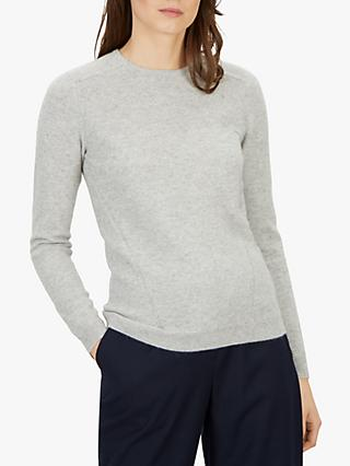 Jaeger Cashmere Crew Neck Jumper, Grey