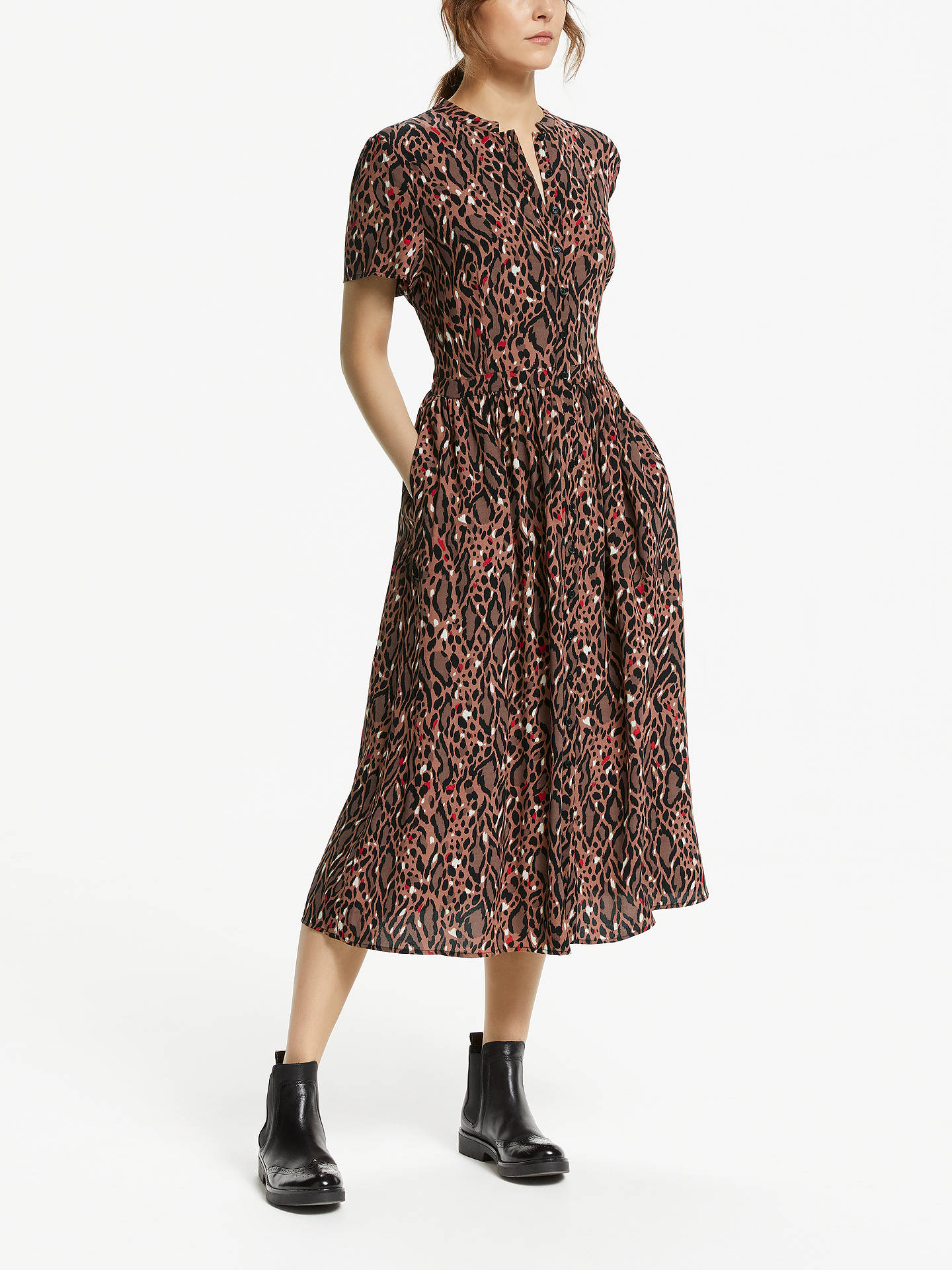 a680a56fa4 BuySomerset by Alice Temperley Leopard Print Shirt Dress
