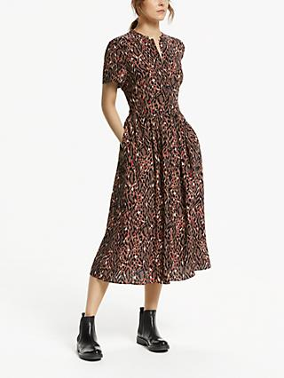 Somerset by Alice Temperley Leopard Print Shirt Dress, Brown/Multi