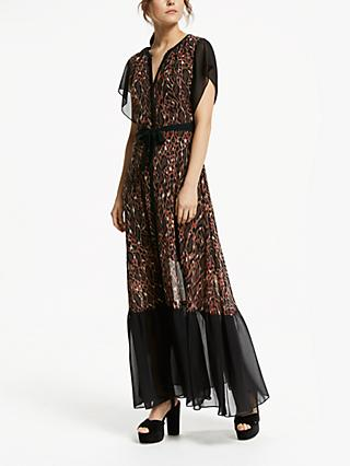 Somerset by Alice Temperley Leopard Maxi Dress, Brown/Multi